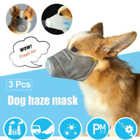 3X Pet Dog Mouth Anti Fog Smog Pollution Breathable Muzzle Face Cover Tools