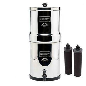 Travel Berkey Water Purifier W/2 Black BB9 Filters AUTHORIZED DEALER & WARRANTY