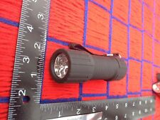 plastic BLACK flashlight 6 LED bright Daylight with 3 free AAA batteries FREE