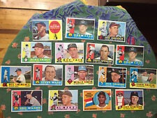 Vintage 1960 Topps 15 Card Lot Clean No Creases No Wrinkles Bill Mazeroski