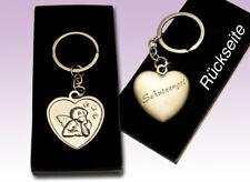 Schutzengel Herz mit Engel und STRASS Schlüsselanhänger Gastgeschenk Kommunion