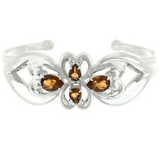 Carolyn Pollack Sterling 3.90ct Cognac Citrine Cuff Size Small