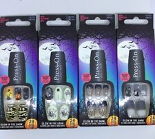 Halloween Nails Press-On Manicure Glow in the Dark 4 x 24 Nails Paket *neu* 👻🎃
