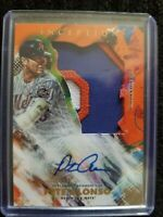 2020 topps inception Pete Alonso autograph jumbo patch relic 21/25