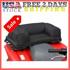 Atv Rear Seat Pad Cushion Passenger Storage Bag Camo Hunting Gear Luggage Rack