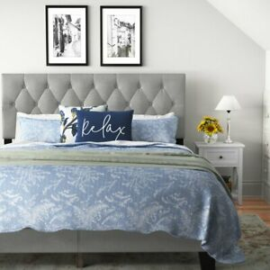 Drusilla Tufted Upholstered Low Profile Standard Bed-Twin size bed