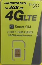 H2O Wireless SIM CARD+$30 1st MONTH INCLUDED PREPAID PRELOADED