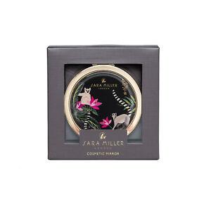 Sara Miller - Green Tahiti Lemur Design Cosmetic Mirror in Presentation Gift Box