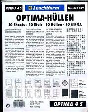10 RECHARGES LEUCHTTURM OPTIMA 4 S - 4 poches fond noir