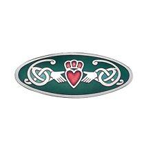 Oblong Celtic Claddagh Enamel Brooch / Scarf Pin (7513)