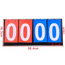 Portable 4 Digit Scoreboard Sports Basketball Tennis Tabletop Score Keeper