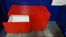 Ladeneinrichtung Rollcontainer Schubladen Schubladenschrank Schubladenwagen rot