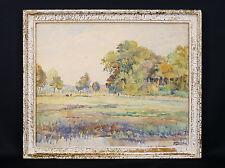 Henri BARRIERE (XX) Aquarelle originale, signée paysage circa 1930