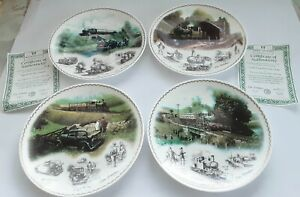 4 x Limited Edition Wedgwood Fine China Plates - Impressions of Steam Collection