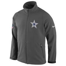 NFL Dallas Cowboys Men's Gray Sphere Hybrid Full Zip Up Jacket, Medium