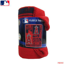 "Brand New MLB Los Angeles Angels Large Soft Fleece Throw Blanket 50"" X 60"""
