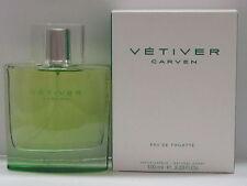 Vetiver by Carven For Men 3.33 oz Eau de Toilette Spray New In Box Sealed
