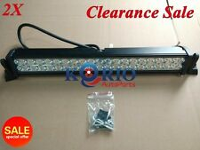 2pcs 24 INCH 120W FLOOD WORK LIGHTS CREE LED LIGHT BAR 4WD OFFROAD LAMP BOAT