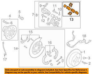 KIA OEM 16-18 Sportage Brake-Rear Pads 58302D3A00
