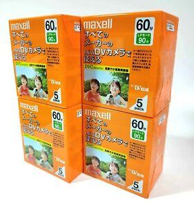 【NEW x 20】Maxell Mini DV 60 Digital Video Cassette Tape MADE in JAPAN #0460-1