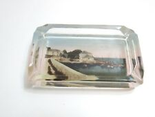 "VINTAGE BERMUDA ISLANDS GLASS PAPERWEIGHT ~ ASHTRAY 4 3/4"" ACROSS AT BASE IN NIC"