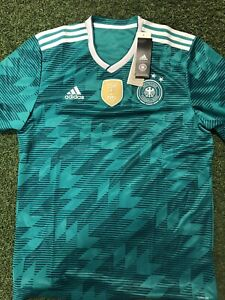Germany Adidas Men 2018 Soccer Away Jersey BR3144 SZ L & 2XL