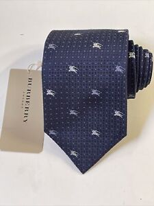 """NEW Burberry Blue Square Dots Mans 100% Silk Tie Authentic Italy 3.5"""" 0350394"""