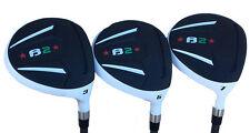 "+1"" Tall Heater B2 Taylor Fit #3,5,7 Aldila Graphite Regular Flex Mens Golf Set"