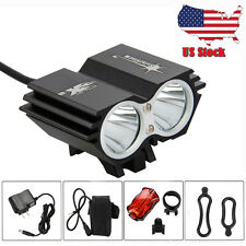Rechargeable 10000LM 2X XML T6 LED Mountain Bike Front Headlight Battery 4-Modes