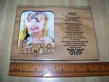 """""""KAYLA"""" Personality Profile Matte Picture Frame from Kitty Hawk Kites"""