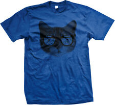 Cat Head X-Ray Vision Kitten Kitty Furball Funny Humor Joke Meme Mens T-shirt
