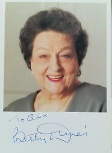 Photo from Coronation Street signed by Betty Driver