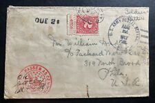 1917 US Army PO Forces In Europe Censored Posarte Due Cover To Philadelphia PA
