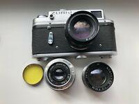 """ZORKI-4K Export Edition Soviet Rangefinder Film Camera w/s lens """"JUPITER-8+bonus"""