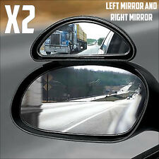 2X BLIND SPOT MIRROR TOWING REVERSING DRIVING BOLT ON SECURE CAR VAN MOTORBIKES