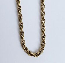 Vintage Ladies 9ct Gold / Fancy Twist Rope Link Necklace Chain 8 grams / 16 inch