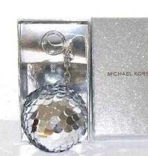 MICHAEL KORS Neu Pom Pom Disco silber Taschen-Anhänger Schlüssel