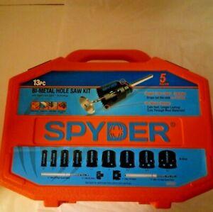 New Spyder 13-pc Bi-Metal Hole Saw Kit Rapid Core Eject 600887 Valentine's Gift