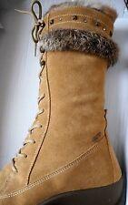Stunning Crystal & Stud Leather Knee Wedge Boot 41 Insulated Italian IGI&CO Fur