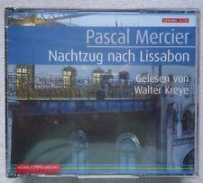 PASCAL MERCIER NACHTZUG NACH LISSABON GELESEN VON WALTER KREYE GERMAN 6 CD SET