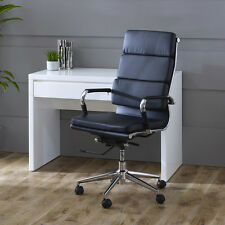 Eames Style Black Leather High Back Office Chair - 9002A-Hawkes-High-Back