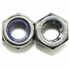 New listing 100Pcs M3 X 0.5mm 304 Stainless Steel Self-Lock Nylon Inserted Hex Nuts, &amp
