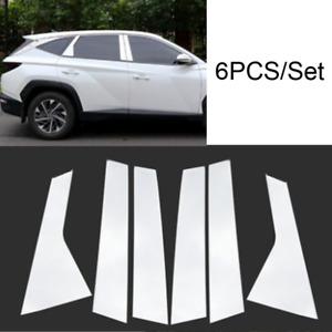 6Pc Chrome Pillar Post Trim Stainless Steel fit:2021 Hyundai Tucson