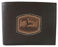John Deere BiFold Wallet w/Stitched Patch - Brown - 4054000-200