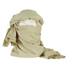 Chèche coton beige état neuf  / chech chèch foulard écharpe tan coyote khaki