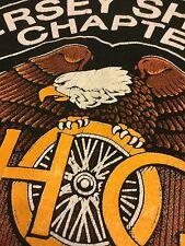 VTG 90s Harley-Davidson Owners Group JERSEY SHORE Chapter Pocket T-Shirt L NJ