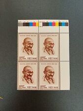 Vietnam 2019 150th Anniversary Of Birth Of Gandhi Stamp VN #1115 Mint Bloc Of 4