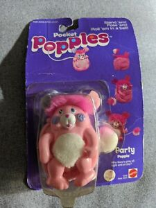 POPPLES pocket mini,Party Popple #1245 MATTEL 1986 Vtg Rare In Box