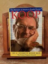 KOOP by C. Everett Koop HB/DJ 1st ed SIGNED Surgeon Gen