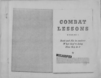351 Page U.S. Army War Department Army Combat Lessons WWII 1942-1944 on Data CD